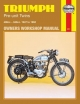 Triumph Pre-unit Construction Twins Owner's Workshop Manual - Jeff Clew