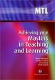 Achieving your Masters in Teaching and Learning - Mary McAteer;  Lisa Murtagh;  Fiona Hallett;  Gavin Turnbull