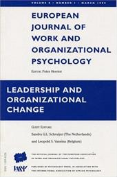 Leadership and Organizational Change: A Special Issue of the European Journal of Work and Organizational Psychology - Shruijer, S. / Schruijer, Sandra / Vansina, Leopold