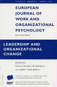 """Leadership and Organizational Change: v. 8, no.1: A Special Issue of the """"European Journal of Work and Organizational Psychology"""" (European Journal of ... Psychology, Vol 8, Number 1, March 1999)"""
