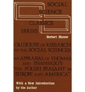 Critiques of Research in the Social Sciences - Herbert Blumer