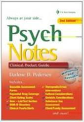 Psych Notes: Clinical Pocket Guide - Pedersen, Darlene D.