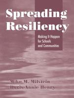 Spreading Resiliency: Making It Happen for Schools and Communities