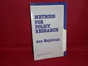 Methods for Policy Research. Foreword by Amitai Etzioni. Applied Social Research Methodes Series, Volume 3. Fourth Printing. - Ann Majchrzak