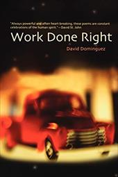 Work Done Right - Dominguez, David