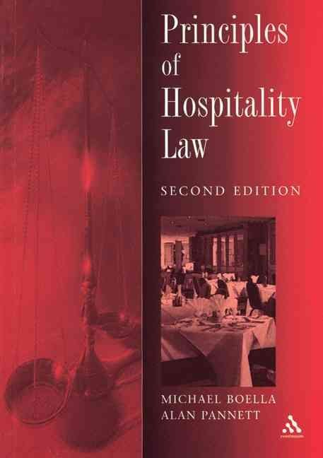 The Principles of Hospitality Law - Alan Pannett