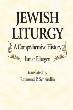 Jewish Liturgy a Comprehensive Histor - Elbogen, Ismar