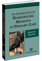 An Introduction to Homeopathic Medicine in Primary Care