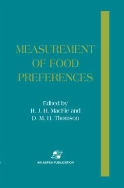 Measurement of Food Preferences - MacFie, Halliday Thomson, D. M. H.