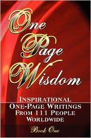 One Page Wisdom. Book One - New Age Directories, -. Jo Hopping -. Jo (Editor), -. Matthew Joh Corcoran -. Matthew John (Compiler)