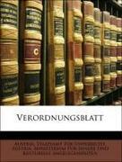 Austria. Staatsamt Für Unterricht;Austria. Ministerium Für Innere Und Kulturelle Angelegenheiten: Verordnungsblatt