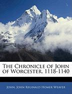 The Chronicle of John of Worcester, 1118-1140