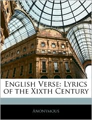 English Verse: Lyrics of the Xixth Century