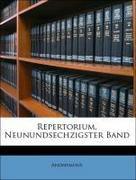 Anonymous: Repertorium, Neunundsechzigster Band