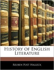 History of English Literature - Reuben Post Halleck