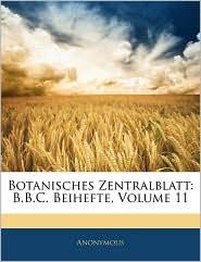 Botanisches Zentralblatt - Anonymous