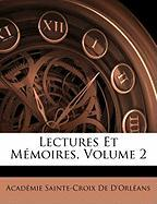 Lectures Et Mmoires, Volume 2