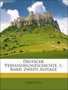 Waitz, Georg: Deutsche Verfassungsgeschichte. 1. Band. Zweite Auflage