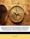 Rudiments of the German Language - Franz Ahn