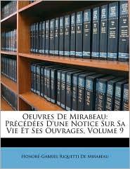 Oeuvres De Mirabeau - Honore-Gabriel Riquetti De Mirabeau