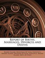 Report of Births, Marriages, Divorces and Deaths