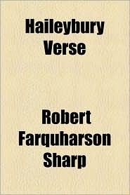 Haileybury Verse - Robert Farquharson Sharp