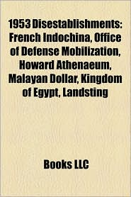 1953 Disestablishments - Books Llc