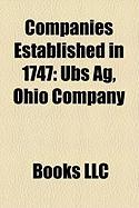 Companies Established in 1747: UBS AG, Ohio Company