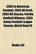2003 in American Football: 2003 NFL Draft