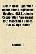 1981 in Israel: Operation Opera, Israeli Legislative Election, 1981, Strategic Cooperation Agreement, 1981 Maccabiah Games, 1981-82 Li