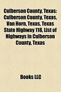 Culberson County, Texas: Texas State Highway 118