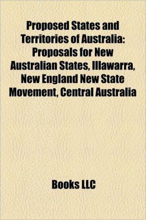 Proposed States And Territories Of Australia
