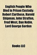 English People Who Died in Prison Custody: John Straffen