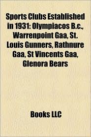 Sports Clubs Established in 1931: Association Football Clubs Established in 1931, Basketball Clubs Established in 1931, Glenora Bears