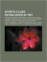 Sports Clubs Established In 1891 - Books Llc