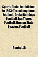 Sports Clubs Established in 1893: Texas Longhorns Football