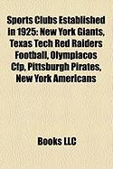 Sports Clubs Established in 1925: New York Giants