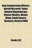New Zealand Army Officers: Harold McCarter Taylor