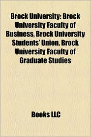 Brock University - Books Llc