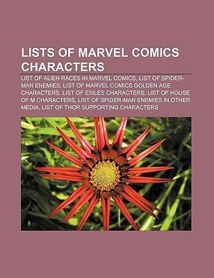 Lists of Marvel Comics characters als Taschenbuch von - Books LLC, Reference Series