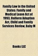 Family Law in the United States: Family and Medical Leave Act of 1993, Uniform Adoption ACT, Child and Family Services Review, Baby M