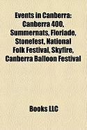 Events in Canberra: Canberra 400, Summernats, Floriade, Stonefest, National Folk Festival, Skyfire, Canberra Balloon Festival