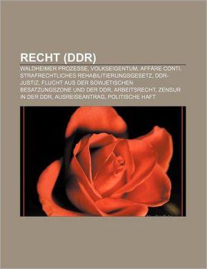 Recht (Ddr) - B Cher Gruppe (Editor)