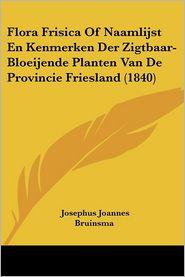 Flora Frisica Of Naamlijst En Kenmerken Der Zigtbaar-Bloeijende Planten Van De Provincie Friesland (1840) - Josephus Joannes Bruinsma