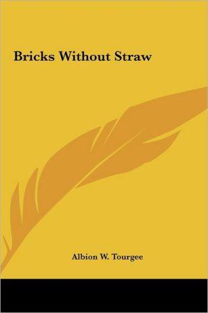 Bricks Without Straw - Albion Winegar Tourgee