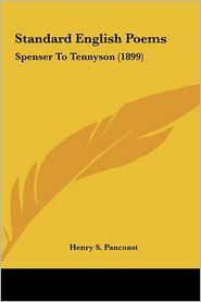Standard English Poems - Henry Spackman Pancoast
