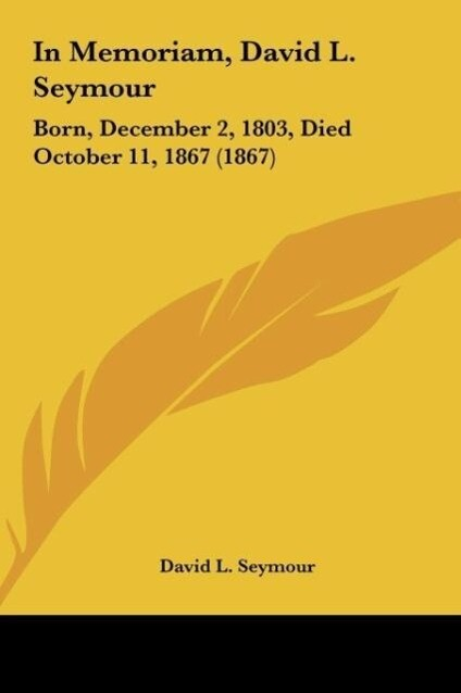 In Memoriam, David L. Seymour als Buch von David L. Seymour - David L. Seymour