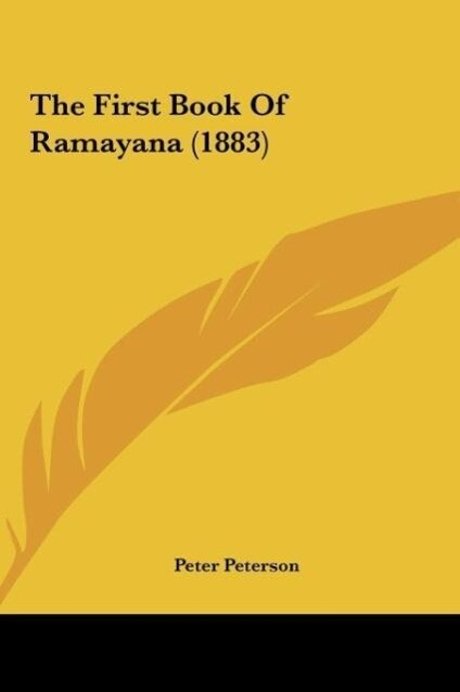 The First Book Of Ramayana (1883) als Buch von