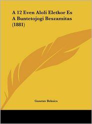 A 12 Even Aloli Eletkor Es A Buntetojogi Beszamitas (1881) - Gusztav Beksics