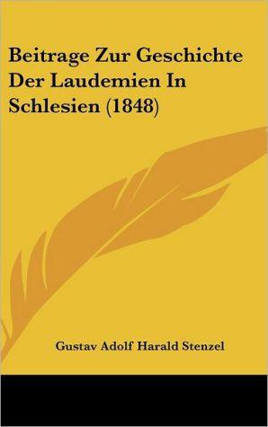 Beitrage Zur Geschichte Der Laudemien In Schlesien (1848)